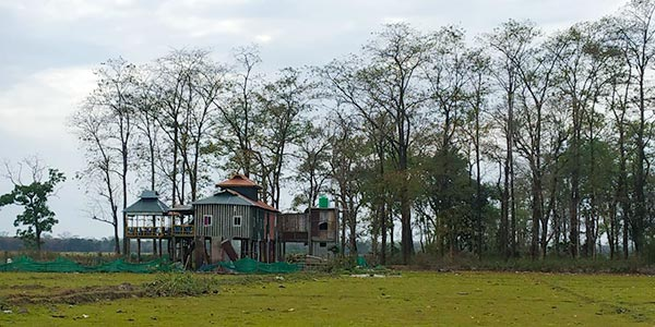A view of The Wild Cottage at Chilapata